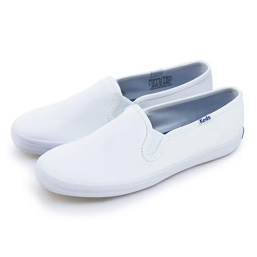 LIKA夢 Keds 時尚韓風經典便鞋款帆布鞋 Classics Slip-on系列 白 110007 女
