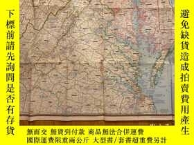 二手書博民逛書店罕見地圖national geographic美國國家地理1956年4月round about the natio