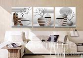 壁畫 沙發背景掛畫壁畫歐式花瓶無框畫 BH 衣涵閣
