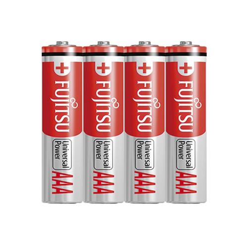【奇奇文具】FUJITSU 4號鹼性電池AAA(4入)AM4-S4P