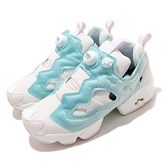 Reebok 休閒鞋 Instapump Fury OG 白 藍 水元素 女鞋 復古慢跑鞋【ACS】 FW7698