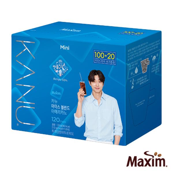 韓國 MAXIM麥心 KANU 美式中焙咖啡超值增量版 (1g×120入/盒) 孔劉咖啡 夏季限定咖啡 肯亞咖啡