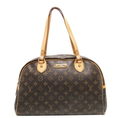 LOUIS VUITTON LV 路易威登 原花肩背包 保齡球包 Montorgueil GM M95566【BRAND OFF】