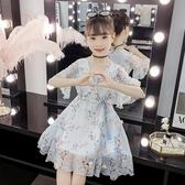 女童雪紡裙 女孩洋氣洋裝2020新款女童韓版碎花網紅中兒童雪紡夏裝