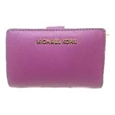 MICHAEL KORS 紫色PVC短夾Wallet Mid 【二手名牌BRAND OFF】