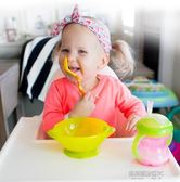 寶寶吸盤碗輔食碗兒童喂飯訓練碗 外出便攜碗勺套裝餐具  凱斯頓數位3C