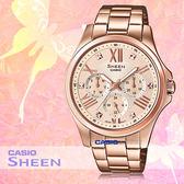 CASIO 卡西歐 手錶專賣店 SHE-3806PG-9A 女錶 不鏽鋼指針錶帶  三眼 防水 全新品 保固一年