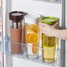 家用密封帶過濾網涼水壺冰箱果汁冷藏水壺耐高溫涼白開水壺泡茶壺 滿天星