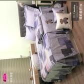 精梳棉三件套【薄床包】6*7尺 /御芙專櫃『紐約旅行』☆╮60/40支棉/特大