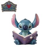 【正版授權】Enesco 史迪奇看故事書 塑像 公仔 精品雕塑 史迪奇 Stitch 迪士尼 Disney - 813761