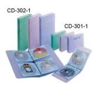 雙鶖牌 FLYING   CD301-1 果凍色 24片CD二孔空夾(顏色隨機出貨)  / 個