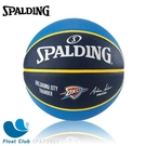 SPALDING 斯伯丁 NBA 隊徽球 雷霆 Thunder 橡膠籃球 7號 SPA73951 原價690元