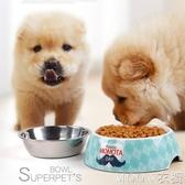 狗碗貓盆單碗貓雙用飯碗水盆不銹鋼大型犬狗狗盆寵物用品泰迪食盆 moon衣櫥