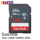 SanDisk Ultra 128GB 100MB/s SDXC 記憶卡 SD 128G 群光公司貨