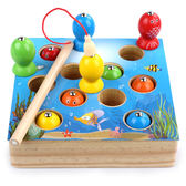 兒童木質磁性小孩釣魚玩具1-2-3周歲兩寶寶男孩早教啟蒙女孩益智