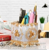 筆筒時尚筆筒收納盒可愛創意化妝刷桶北歐ins風個性筆筒樹脂擺件 【雙十二狂歡】