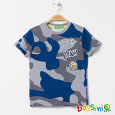 印花短袖T恤10灰-bossini男童