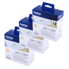 Brother DK-11201 白底黑字 (3入包裝)原廠定型標籤帶 適用QL-570、QL-580N、QL-650TD、QL-1050、QL-1060N