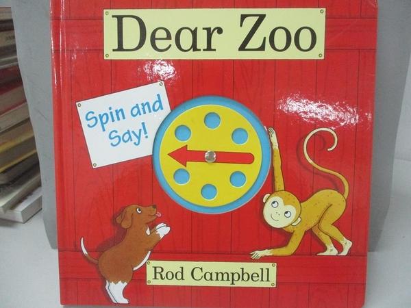 【書寶二手書T1/少年童書_DE4】Dear Zoo Spin and Say_Rod Campbell
