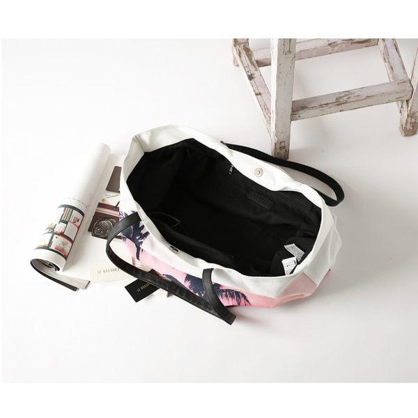 Melek 包包類 (共1色) 正品【A01160616-03-F】F21椰樹夕陽肩背白 forever21/側背包/手提包