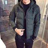 夾克外套-連帽韓版時尚帥氣休閒夾棉男外套3色73qa14[時尚巴黎]