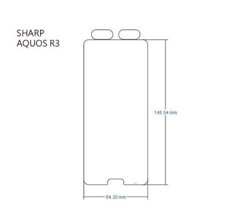 【iMos】3SAS系列保護貼 SHARP AQUOS R3 (6.2吋) 超潑水、防污、抗刮