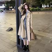 風衣女中長款外套秋冬2020新款韓版寬鬆百搭氣質英倫風卡其色大衣 【新年狂歡購】