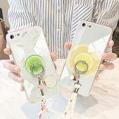 蘋果6s手機殼玻璃iPhone6splus手機殼新款六硅膠套6p防摔卡通女潮【快速出貨】