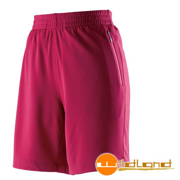 Wildland 荒野 0A21681-17嫣紅色 女透氣抗UV排汗短褲