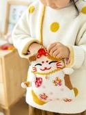 新媽咪手作招財貓口金包打發時間手工diy編織鉤針毛線團材料包飝 黛尼時尚精品