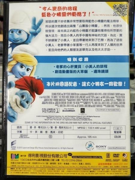 挖寶二手片-P04-308-正版DVD-動畫【藍色小精靈2/The Smurfs 2】-(直購價)