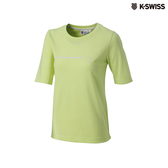 K-SWISS Short Sleeve T-Shirts印花短袖T恤-女-黃