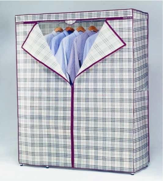 [ 家事達 ]鍍鉻衣架專用 防塵套 (90*45*高165cm) 特價