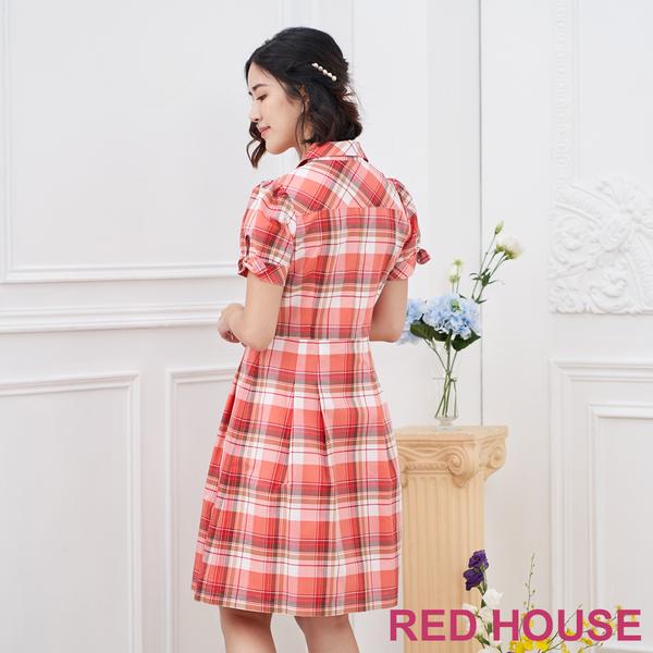 【RED HOUSE 蕾赫斯】格紋洋裝