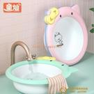 2個裝 初生嬰兒洗臉盆新生兒童用品洗屁p卡通家用三件套寶寶小盆子【小獅子】