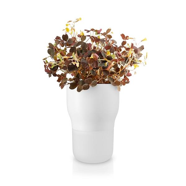 丹麥 Eva Solo Flowerpot Self-watering 自給水式花器系列 流線 桌上型 花盆(圓直徑 9 cm - 粉筆白色款)