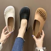 娃娃鞋 淺口豆豆鞋女春季新款百搭復古奶奶鞋軟底森女娃娃鞋兩穿單鞋 【母親節特惠】