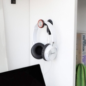 Jeefanco高檔耳機架耳機掛架支架頭戴式鉤床頭桌面耳麥耳掛粘貼掛架實木耳機支架貼墻壁掛