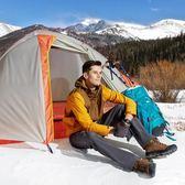 戶外帳篷 單人雙層鋁桿野營防暴雨野外露營 四季騎行裝備帳篷【無趣工社】