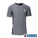 K-SWISS KS LOGO W/5 Stripe Tee涼感排汗T恤-男-灰