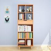 北歐落地書架 簡約現代置物架收納架 家用簡易省空間學生書櫃 KV2158 『小美日記』