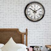 復古美式靜音鐘表簡約掛鐘客廳創意現臥室時鐘石英鐘掛表 YXS 優家小鋪