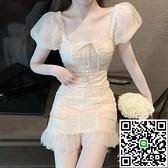 連身裙緊身連衣裙修身性感溫柔包臀裙子仙女裙子潮【海闊天空】