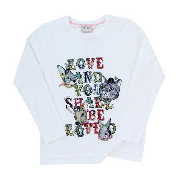 Salad愛與被愛白色女款長袖T恤