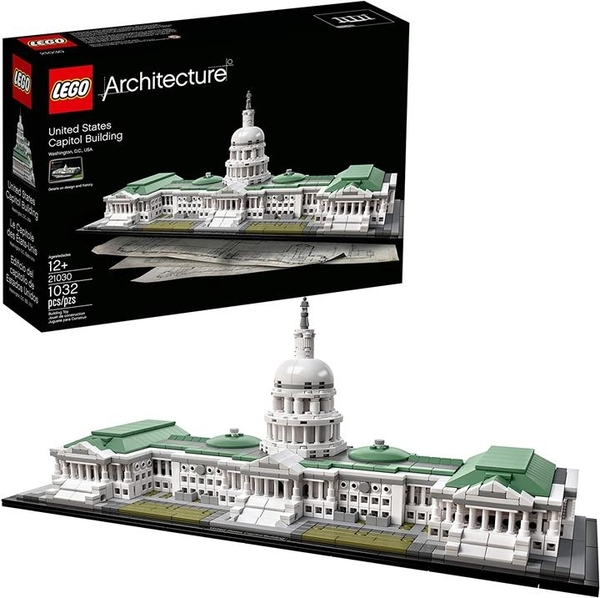 LEGO 樂高 建築21030美國國會大廈套件(1032片)