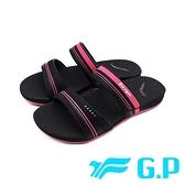 G.P (女)輕柔軟舒適雙帶拖鞋 女鞋 -黑桃 (另有黑)