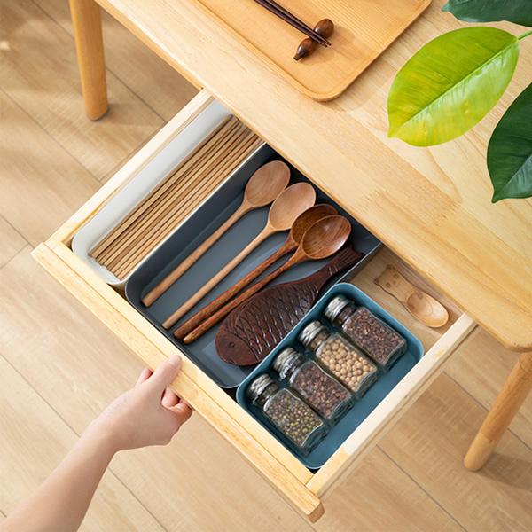 【BlueCat】多功能簡約抽屜整理收納盒 (小) 分隔 桌面收納