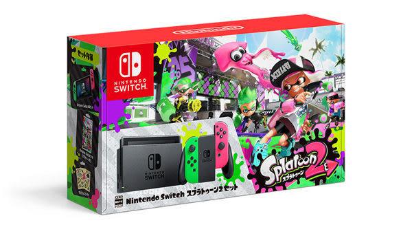 【玩樂小熊】任天堂Nintendo Switch NS漆彈大作戰2遊戲軟體及主機組合同捆 黑色主機綠粉手把 日規