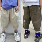 夏季男童褲子薄款兒童中褲男孩休閒七分褲中大童哈倫褲韓版蘿卜褲 快速出貨
