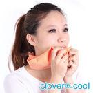里和Riho 小領巾 冰涼巾 路跑巾 柳橙橘 瞬間涼感多用途 SGS檢測不含塑化劑 台灣製造 冰領巾